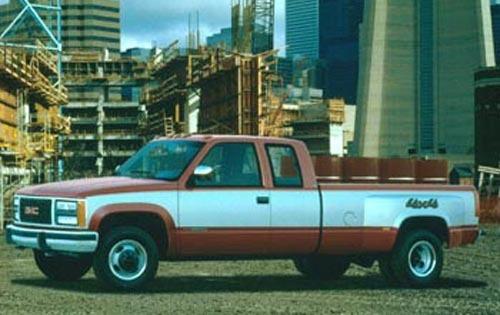 1990 gmc sierra 3500 extended cab pickup sle fq oem 1 500