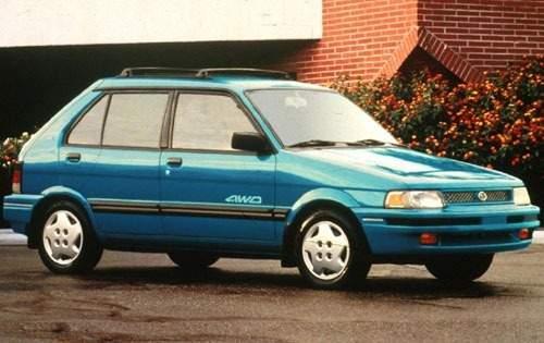 1993 subaru justy 4dr hatchback gl fq oem 1 500