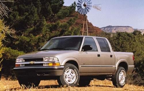 2001 chevrolet s 10 crew cab pickup ls fq oem 1 500