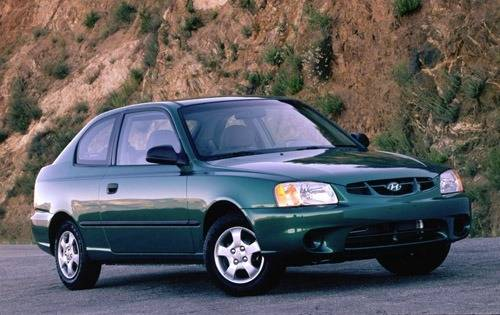 2002 hyundai accent 2dr hatchback gs fq oem 1 500