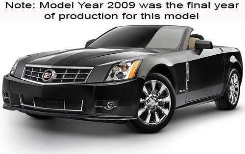 2009 cadillac xlr convertible platinum fq oem 1 500