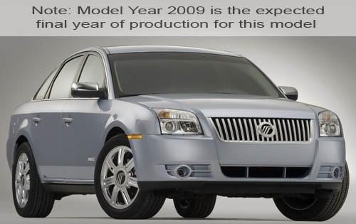 2009 mercury sable sedan premier fq oem 1 500
