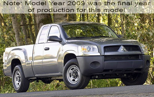 2009 mitsubishi raider extended cab pickup ls fq oem 1 500