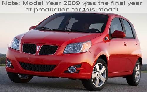2009 pontiac g3 4dr hatchback base fq oem 1 500