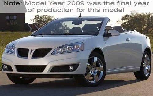 2009 pontiac g6 convertible gt fq oem 1 500