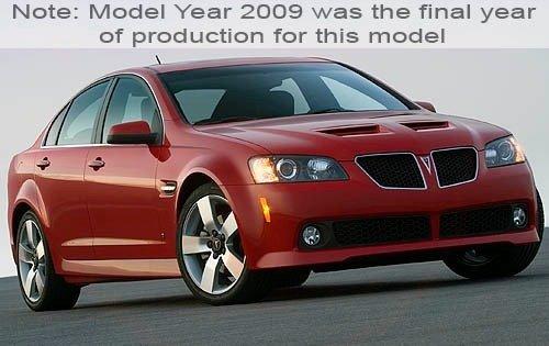 2009 pontiac g8 sedan gt fq oem 1 500