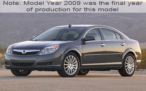 2009 saturn aura sedan xr fq oem 1 500