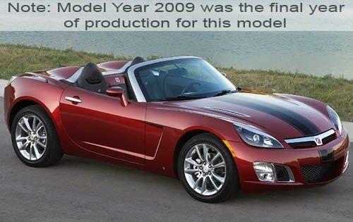 2009 saturn sky convertible red line ruby red se fq oem 2 500