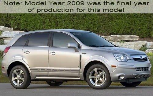 2009 saturn vue hybrid 4dr suv base fq oem 1 500