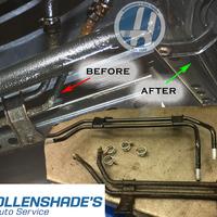 Thumb hollenshades power steering line repair